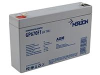 Фото Акумулятор Merlion GP670F1 6V 7Ah білий