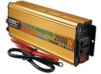 Фото Перетворювач напруги UKC SSK-2000W інвертор з 12 на 220В золотистий