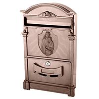 Фото Пластиковый почтовый ящик Vita PO-0023 Дева Мария коричневый