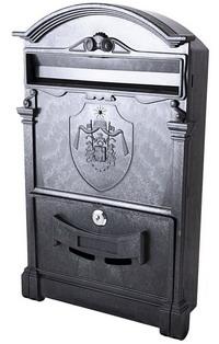 Фото Пластиковый почтовый ящик Vita PO-0003 Английский герб чёрный