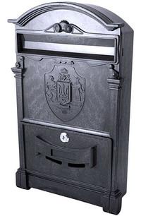 Фото Пластиковый почтовый ящик Vita PO-0013 Тризуб чёрный