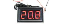Фото Автомобильный термометр с выносным датчиком температуры и красным циферблатом