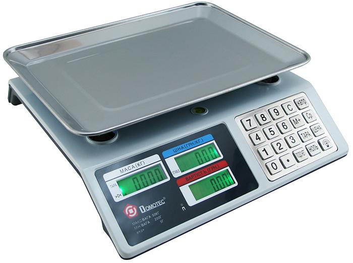 Торговые весы Domotec до 50 кг с металлическими кнопками