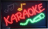 Фото Светодиодная LED вывеска Караоке KARAOKE
