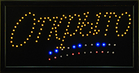 Фото Светодиодная LED вывеска Открыто желтая