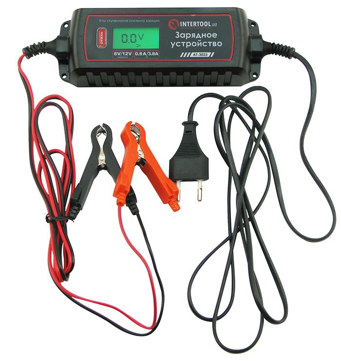 Интеллектуальное зарядное устройство Intertool AT-3023 6/12 В